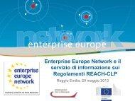 Enterprise Europe Network e il servizio di informazione sui ...