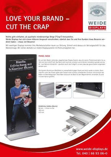 Flyer Panel Base - Weide Displays GmbH