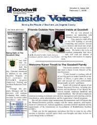 Inside Voice – February 1, 2008 - Goodwill