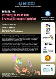 Seminar on Investing in ASEAN and Regional Economic Corridors
