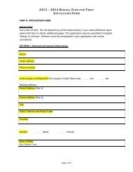 PART A: APPLICATION FORM Use a size 12 font. Do not expand