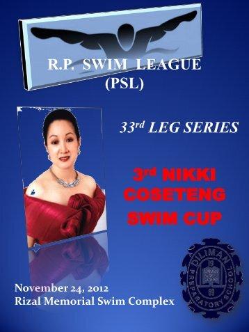 R.P. SWIM LEAGUE (PSL) 33rd LEG SERIES
