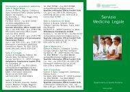 Servizio Medicina Legale - Azienda USL di Reggio Emilia
