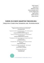 Leben in einer smarten Umgebung - The Distributed Systems Group ...