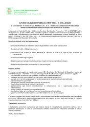 avviso selezione pubblica per titoli e colloquio - Azienda USL di ...