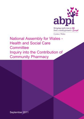 Inquiry into Contribution of Community Pharmacy - Association of ...