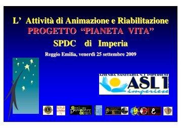 Progetto 'Pianeta Vita' - Azienda USL di Reggio Emilia