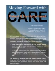 Moving Forward with Patient and Family-Centered Care - Heartland ...