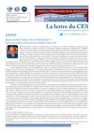 La Lettre n°17 - Centre d'Économie de la Sorbonne - Université ...