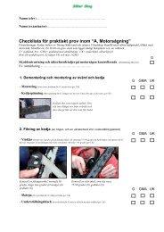 checklista för a-provet