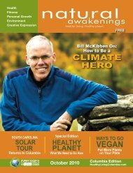 October 2010: Healthy Planet - Columbia Natural Awakenings–Home