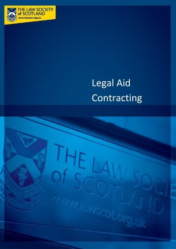 Legal Aid contracting research paper - Law Society of Scotland