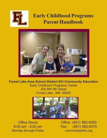 parent handbook web - Forest Lake Area Schools