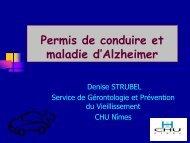 Conduite automobile et maladie d'Alzheimer - sofomec