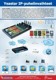 Yeastar MyPBX-esite (PDF) - Microdata Finland Oy