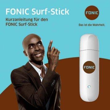 FONIC Surf-Stick Kurzanleitung für Huawei E1750 (PDF 5.400 KB)
