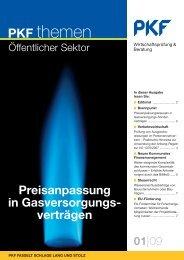 Preisanpassung in Gasversorgungs- verträgen - PKF