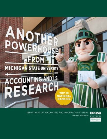 Fall 2010 Newsletter (PDF) - Department of Accounting ...