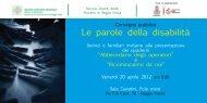 Le parole della disabilità - Azienda USL di Reggio Emilia