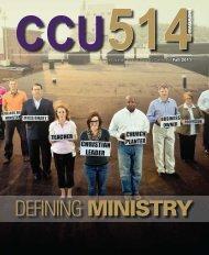 DEFINING MINISTRY - Cincinnati Christian University
