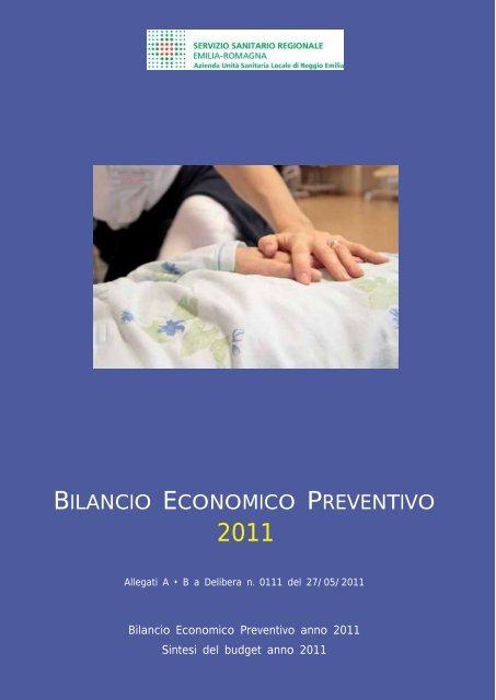bilancio economico preventivo - Azienda USL di Reggio Emilia