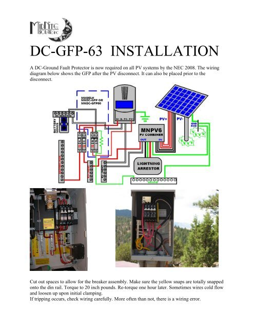 Solar Disconnect Wiring Diagram - Diagrams Catalogue on
