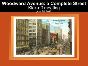 Complete Streets RFP Pre-proposal meeting presentation