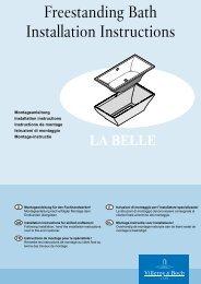 LaBelle Freestanding Bath Installation Instructions ... - Argent Australia