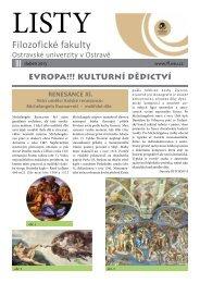 Listech Filozofické fakulty FF OU v Ostravě - Filozofická fakulta