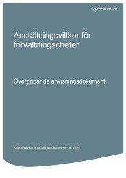 Anställningsvillkor för förvaltningschefer.pdf - Katrineholms kommun
