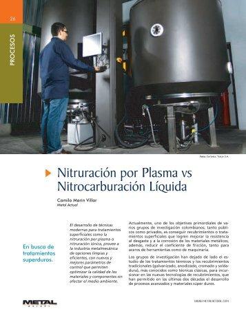 Nitruración por Plasma vs Nitrocarburación Líquida - Revista Metal ...