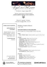 Programma Sala - Gazzotti - Coro Luigi Gazzotti