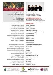 Programma Sala - 19 maggio - THE RING AROUND QUARTET _C