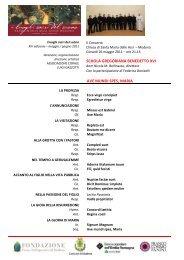 SCHOLA BENEDETTO XVI - Coroluigigazzotti.it