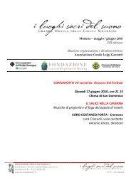 Comunicato Stampa VII concerto - 17 giugno - Coro Luigi Gazzotti