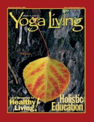 Healthy Living - Yoga Living Magazine