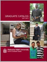 Archive: Graduate Catalog 2011-2012 - Alabama A&M University