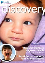 Issue 26, May 2008 - Murdoch Childrens Research Institute