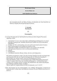 Benutzungsordnung für die Märkte der Stadt Radolfzell am ...