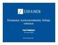 Ärisaladus, konkurentsikeeld, töötaja vastutus - Sorainen