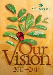 Trustees Our Vision 2010-2014 - St John of God Health Care