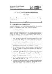 1. ¨Ubung - Datenbankprogrammierung - Datenbanken