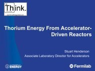 Accelerator Driven Systems - Thorium Energy Alliance