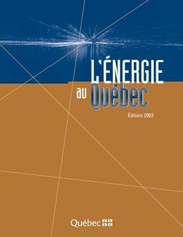 i – la consommation d'énergie - UQAC