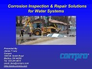 Corrosion inspection & repair solutions for water systems