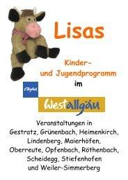 Kinder- und Jugendprogramm im - Westallgäu