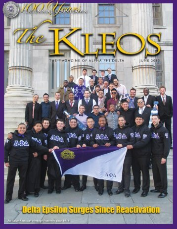 Current Kleos - Alpha Phi Delta Foundation