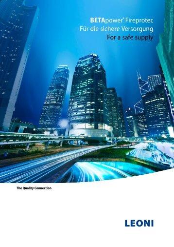 BETApower® Fireprotec - LEONI Infrastructure & Datacom