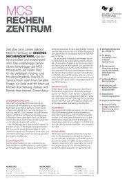 Datenblatt Rechenzentrum - MCS Moorbek Computer Systeme GmbH