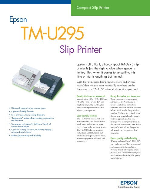 TM-U295 - Add Type Business Equipment Ltd